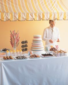 Stations brimming with savory treats, desserts, or tipples can be a fun addition to your celebration.