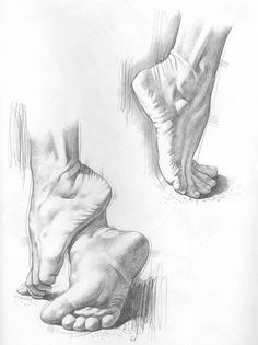 Figure drawing is challenging. Feet Drawing, Body Drawing, Life Drawing, Figure Drawing, Painting & Drawing, Pencil Art Drawings, Drawing Sketches, Drawing Ideas, Human Anatomy Drawing