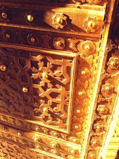 Detail of a door, Hawa Mahal, Jaipur, Rajasthan, India