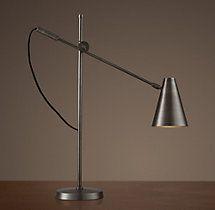 Restoration Hardware - 20th C. Torpedo Task Table Lamp (Aged Steel) - $199