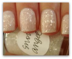 Love these nails i want this polish Snow angel nails Love Nails, How To Do Nails, Fun Nails, Pretty Nails, Glam Nails, All Things Beauty, Girly Things, Angel Nails, Snow Angels