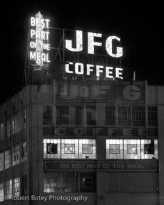 The old JFG Coffee building near I40 in the heart of Knoxville,Tenn