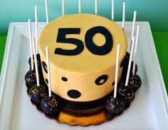 50th Birthday Cake by Simply Sweet Creations (www.simplysweetonline.com)