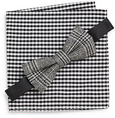$69, Fillmore Glen Plaid Bow Tie Gingham Pocket Square Set by Penguin. Sold by Off 5th. Click for more info: http://lookastic.com/men/shop_items/178937/redirect