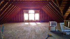 Front windows, attic with floor.