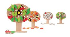 Four Seasons Tree: In a set of one tree and all the leaves, birds, flowers, berries and snowflakes - so you can assemble different times of the year.price is about 3,000 rubles (~$100). You can buy toys at our office. It is in the center of Moscow. Address: Kolokolnikov pereulok, house 24.  phone 8-495-628-55-11.