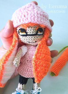 Crochet Splatoon girl, Amigurumi inkling girl, handmade Splatoon, Plush Splatoon doll
