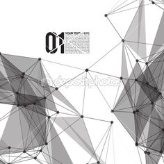 3D Black and White Abstract Mesh Background — Stock Illustration #32832661