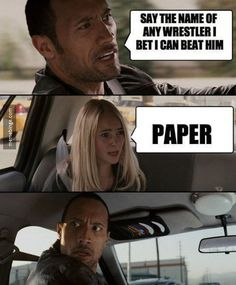 The Rock's kryptonite
