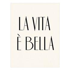 La vita è bella Italian Poster Print - Life is Beautiful