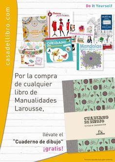 ¡Un cuaderno de dibujo gratis con tu libro de manualidades!