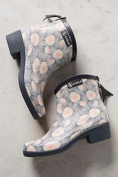Slide View: 1: Aigle Miss Juliette Printed Rain Boots