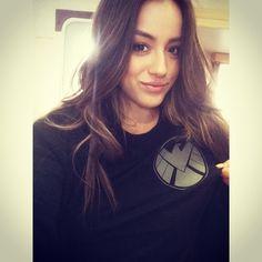 Chloe Bennett-Shield T for my last day on S1 #agentsofshield #Padgram