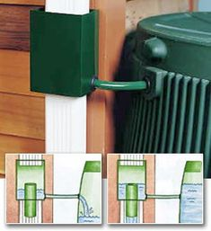 Great idea .. Rain Barrel Downspout Diverters