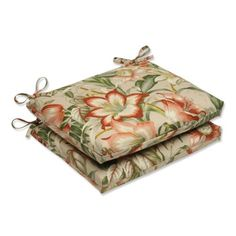 Pillow Perfect Outdoor Botanical Glow Tiger Stripe Squared Corners Seat Cushion Set of 2 * This is an Amazon Associate's Pin. Clicking on the image will lead you to the Amazon website.