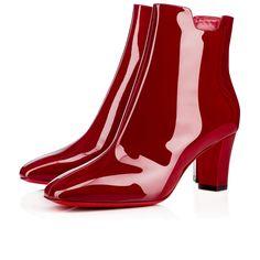 CHRISTIAN LOUBOUTIN Tiagadaboot Patent 70 Carmin Patent Calfskin - Women Shoes - Christian Louboutin. #christianlouboutin #shoes #
