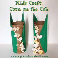 Kids Craft: Corn on the Cob