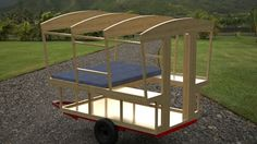 Make that bed a futon and this is brilliant for an outdoor guest room or travel lounge/camper