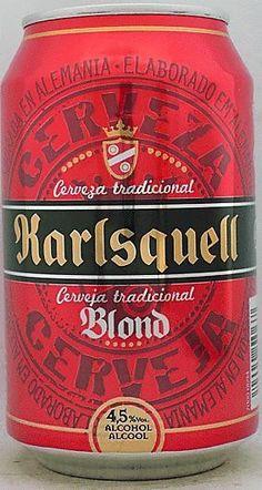 Cerveja Karlsquell Blond, estilo German Pilsner, produzida por Ottweiler Brauerei, Alemanha. 4.5% ABV de álcool.