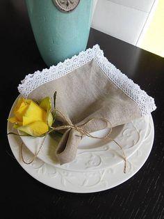 Linen towel by shabby.romantic / Ľanový obrúsok Natural II
