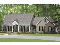 Eplans Ranch House Plan - Family-Friendly Country Home - 2638 Square Feet and 3 Bedrooms from Eplans - House Plan Code HWEPL64771