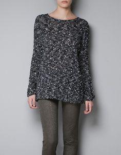 ROUND NECK SWEATER - Knitwear - TRF - ZARA Greece #wooly  #Zara -  christmas,  #winter  #white  #girls