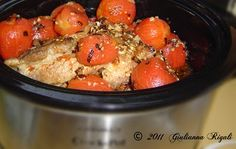 Pork Roast and Ingredients for Pork Ragu Recipe in the Slow Cooker
