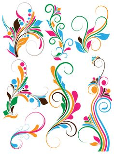 Flower Swirl Clip Art | Free Photoshop » Flourish swirls Vectors, Brushes, PNG, Shapes ...