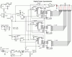 Digital Radar Speedometer - circuit diagrams, schematics, electronic projects