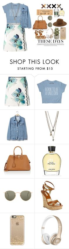 """Look by:Melanie"" by melanie-pacheco ❤ liked on Polyvore featuring Tory Burch, Gap, Maison Margiela, Jean Patou, Ray-Ban, Michael Kors, Casetify, Crate and Barrel and Janessa Leone"