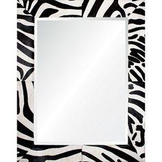 Barclay Butera For Mirror Image Home Zebra Hide Mirror Beveled Edge Mirror, Wood Mirror, Mirror Mirror, Wood Home Decor, White Home Decor, Newport, Black White Stripes, Black And White, Shabby Chic Grey
