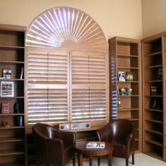 Custom Shutters For Arched Window From Sunland 3 Wood