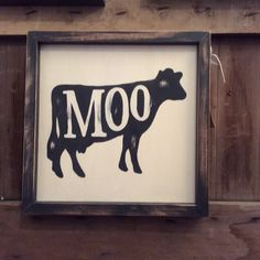 Hand Painted Cow Sign Cow Sign Moo Animal by ArtWithAnndell