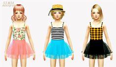 SIMS4 marigold: child_ballerina mini skirt & crop top_발레리나 미니 스커트와 크롭탑_어린이 의상
