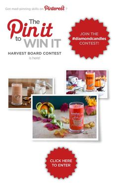 Repin this photo and then click to enter our #contest (and giveaway,too!) // #harvestcontest2012 #diamondcandles