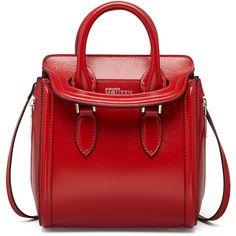 Alexander McQueen Red Mini Satchel Bag,