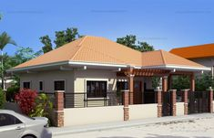 PLAN DESCRIPTION Ramirez is a 3 bedroom contemporary Filipino residence which can be built in a 228 sq. Small Bungalow, Modern Bungalow House, Bungalow House Plans, Dream House Plans, Small House Plans, House Floor Plans, House Outer Design, House Roof Design, Filipino House