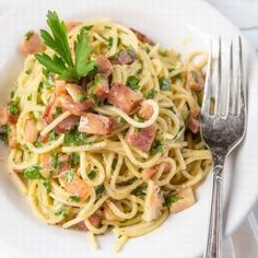 Spagetti Carbonara, Tortellini, Recipies, Spaghetti, Food And Drink, Lunch, Cooking, Ethnic Recipes, Foods