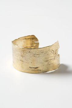 Golden Birch Cuff-- Anthropologie