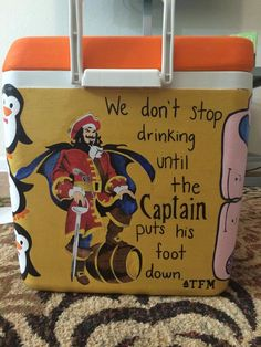 """We don't stop drinking until the Captain puts his foot down."" TFM Captain Morgan"