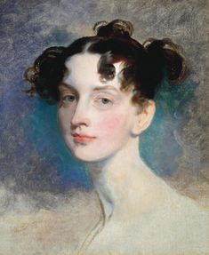 Omg... it looks like I did her hair... and she was a princess...   Sir Thomas Lawrence 'Princess Lieven', ?1812–20