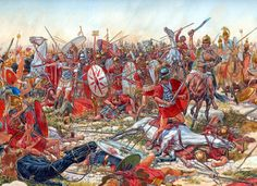 Battle of Cannes by Igor Dzis - the battle where Hannibals army destroyed and killed over 30,000 Romans.