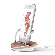 iPhone Stand Charging Dock Desk Station Holder Easy Desktop Charging Station for iPhone 7 (Rose Gold) >>> You can find out more details at the link of the image.