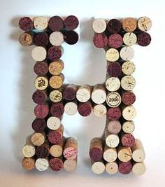 Cork Letters. Take corks from bottles of wine on the tables at the wedding?