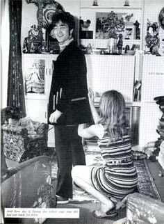 pinterest john lennon and cynthia powell in 1967 | John Lennon outside the Sunroom