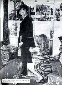 pinterest john lennon and cynthia powell in 1967 | John Lennon outside the Sunroom