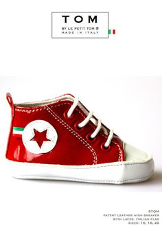 TOM by Le Petit Tom ® HIGH SNEAKER 5tom red