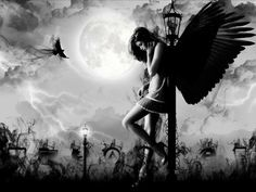 Dark angel <3 - Fantasy Wallpaper (35402627) - Fanpop