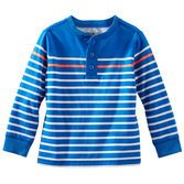A sporty addition to his winter wardrobe, this henley adds a pop of color with a neon engineered stripe.<br>