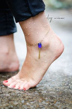 DIY easy bead anklet | Henry Happened